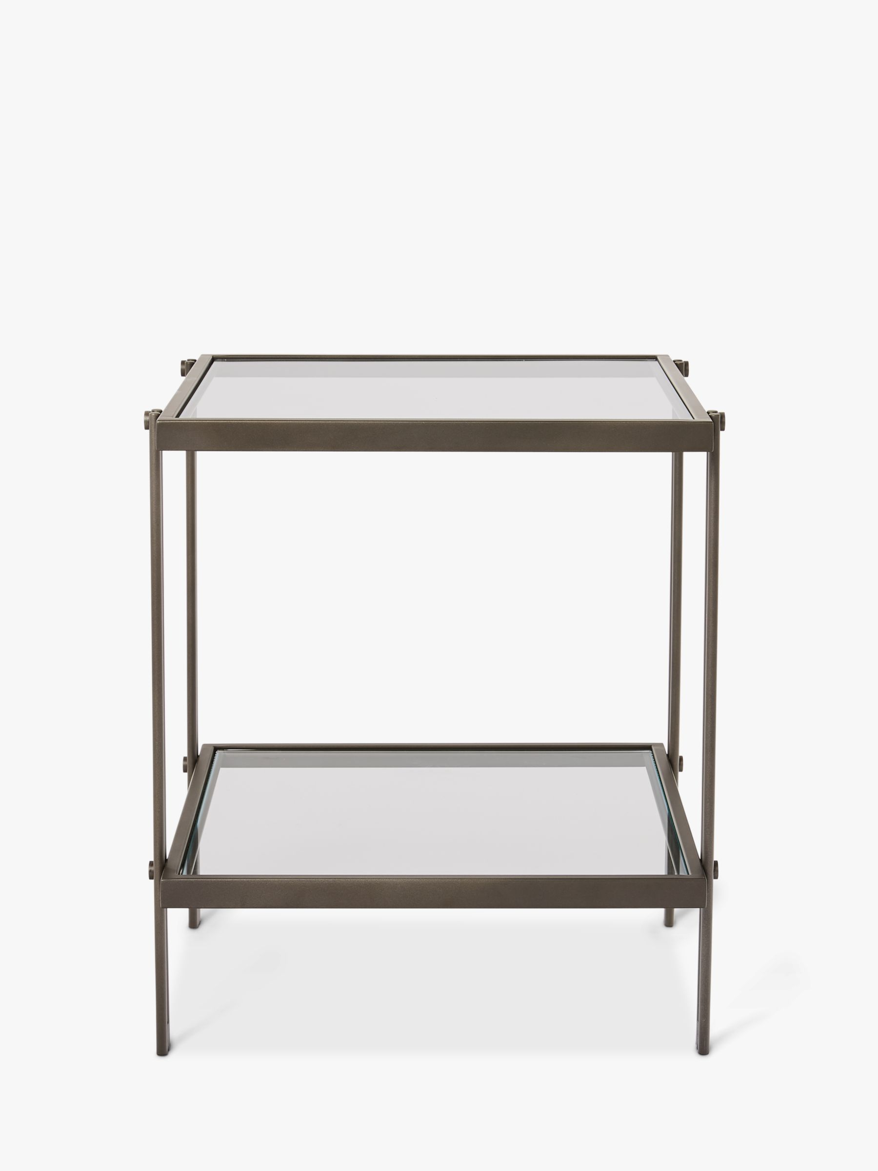west elm fulton glass side table