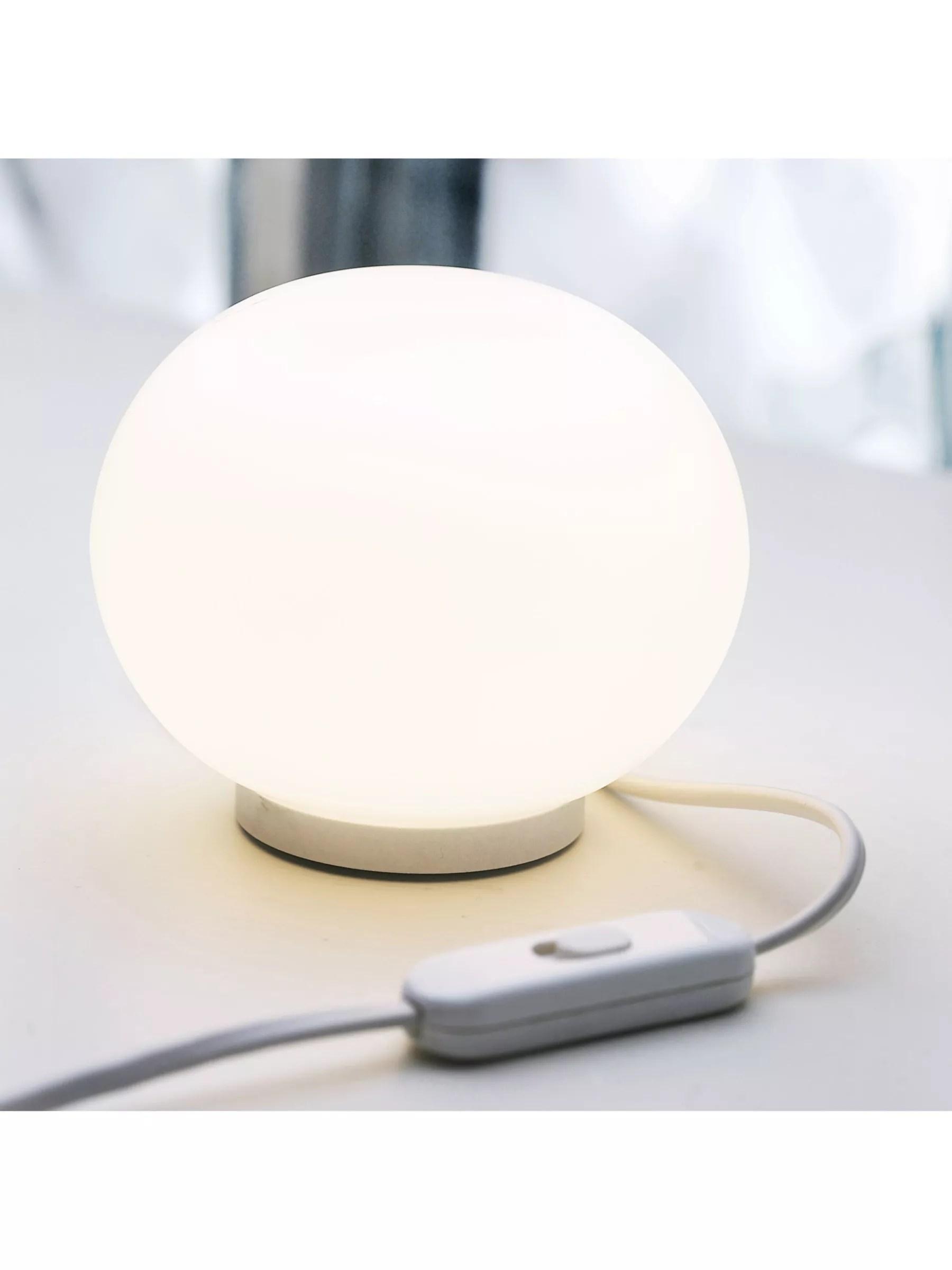 Flos Glo Ball Mini Table Lamp, White at John Lewis & Partners