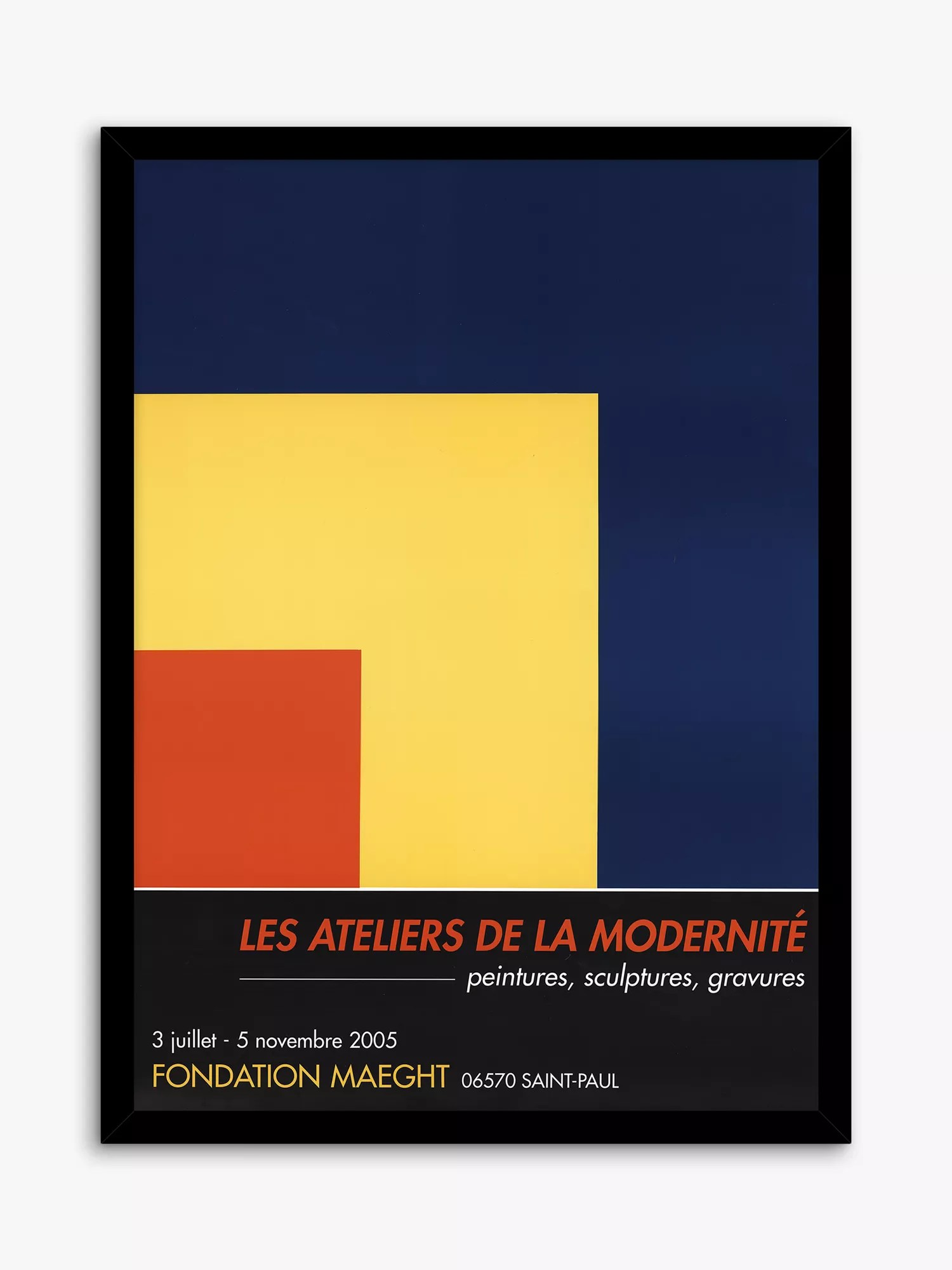 galerie maeght ellsworth kelly exhibition poster framed print 67 x 49 5cm