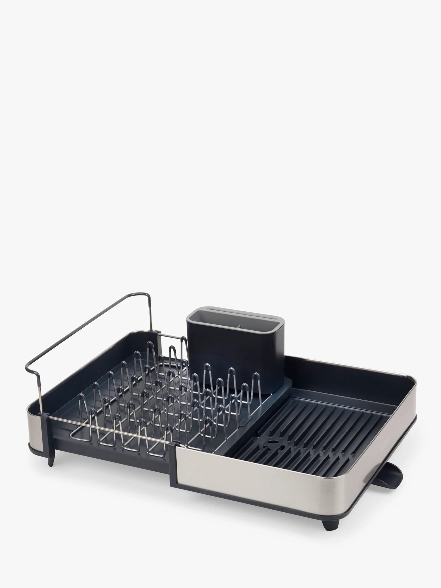 joseph joseph extend stainless steel dish drainer grey