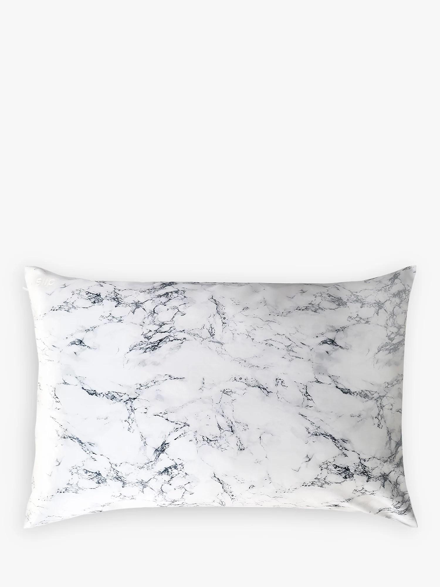 slip pure silk zippered pillowcase marble
