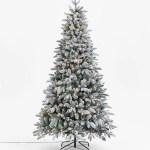 John Lewis Partners Pre Lit Snowy Spruce Christmas Tree 7ft At John Lewis Partners