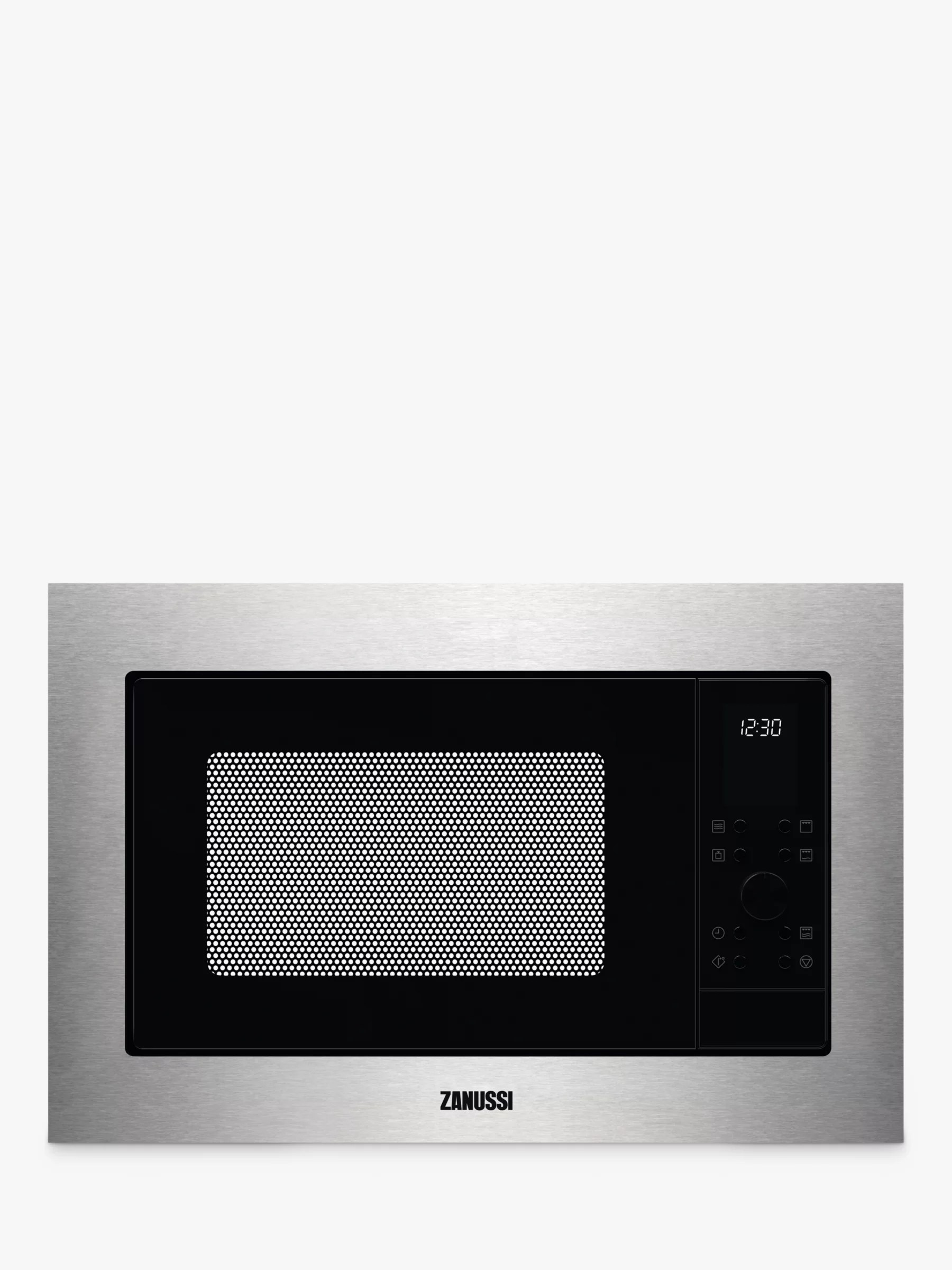 zanussi zmsn7dx built in microwave oven with grill stainless steel