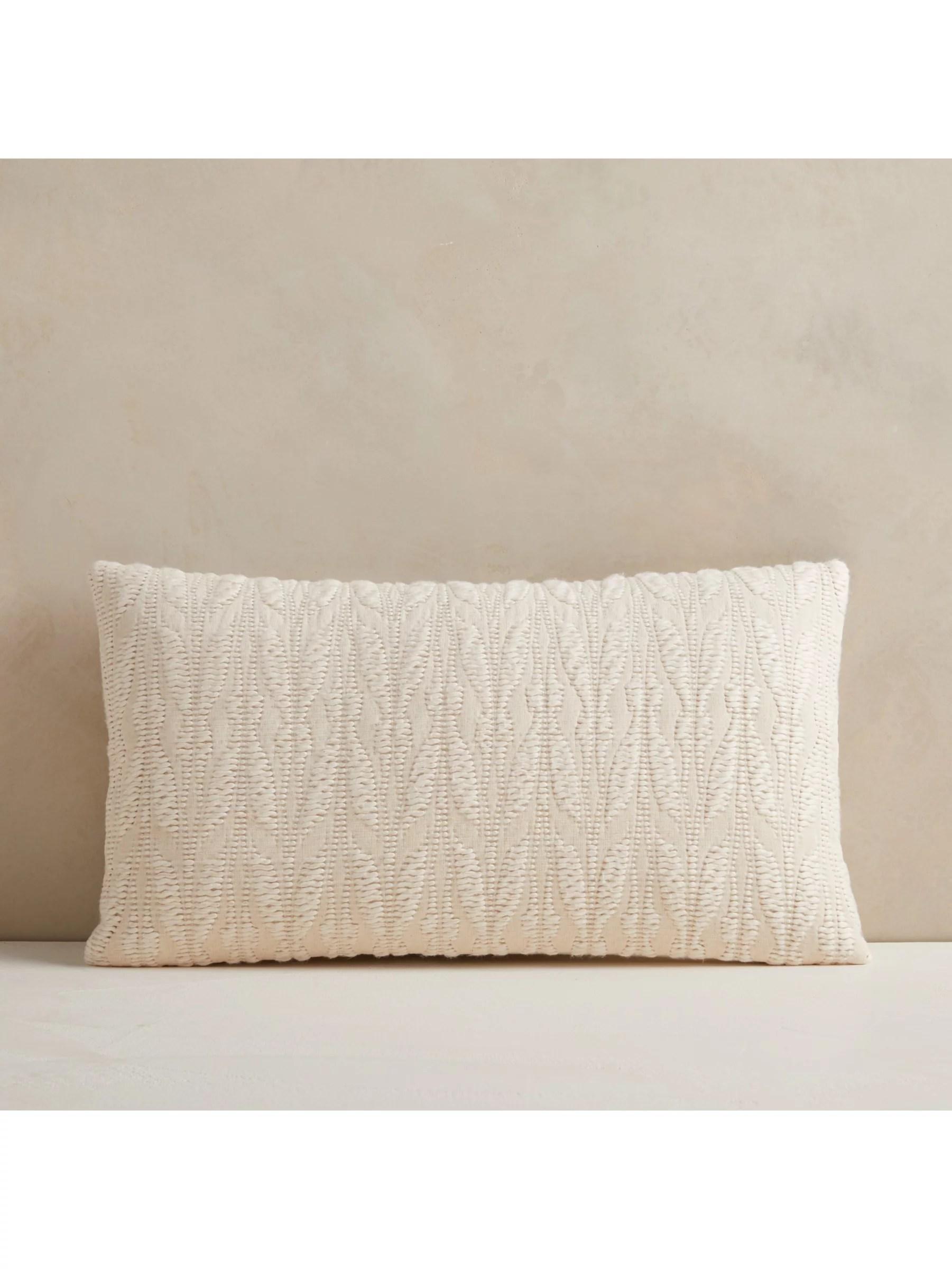 west elm mariposa lumbar cushion natural