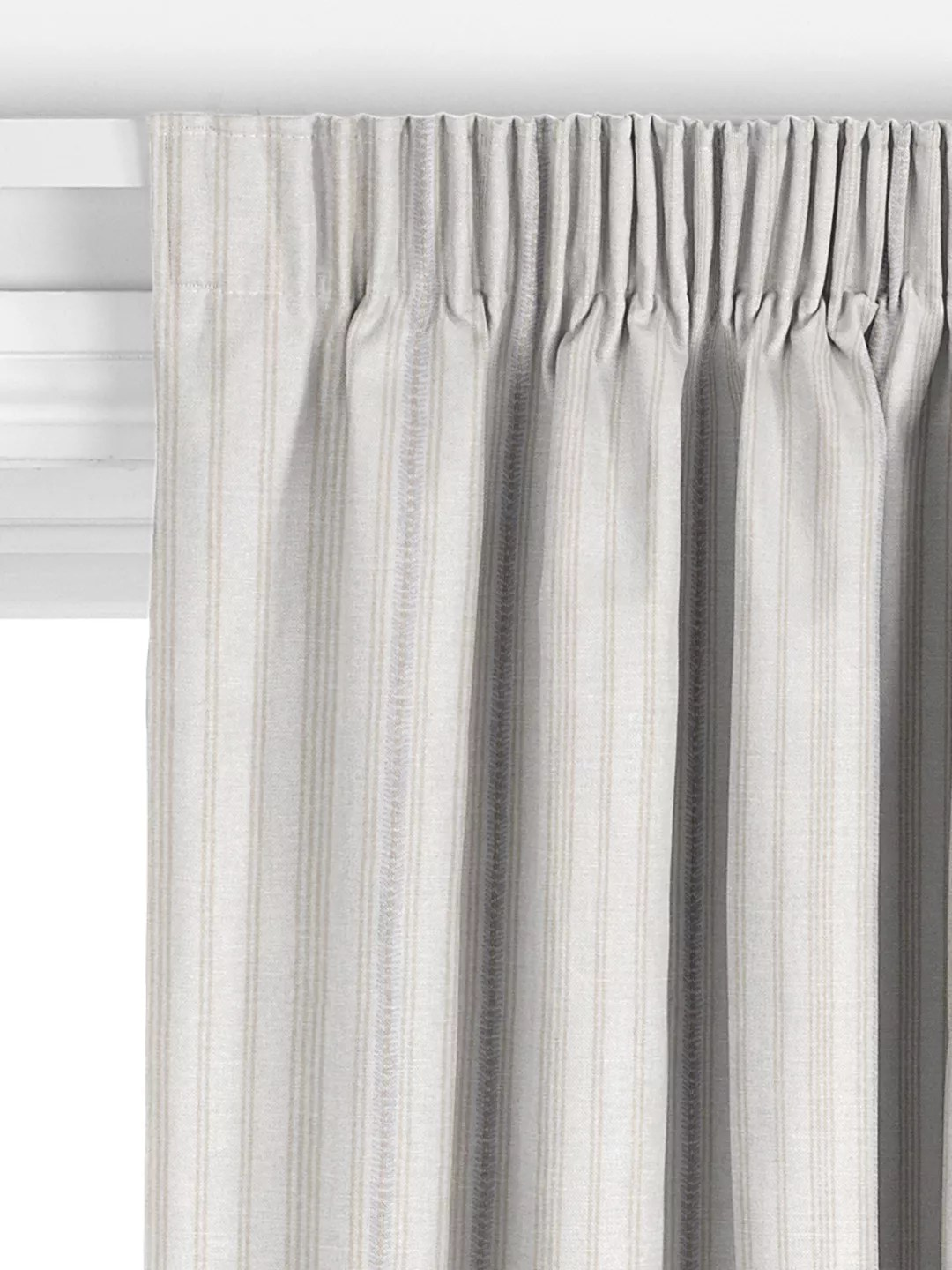 john lewis partners diderot stripe made to measure curtains greige