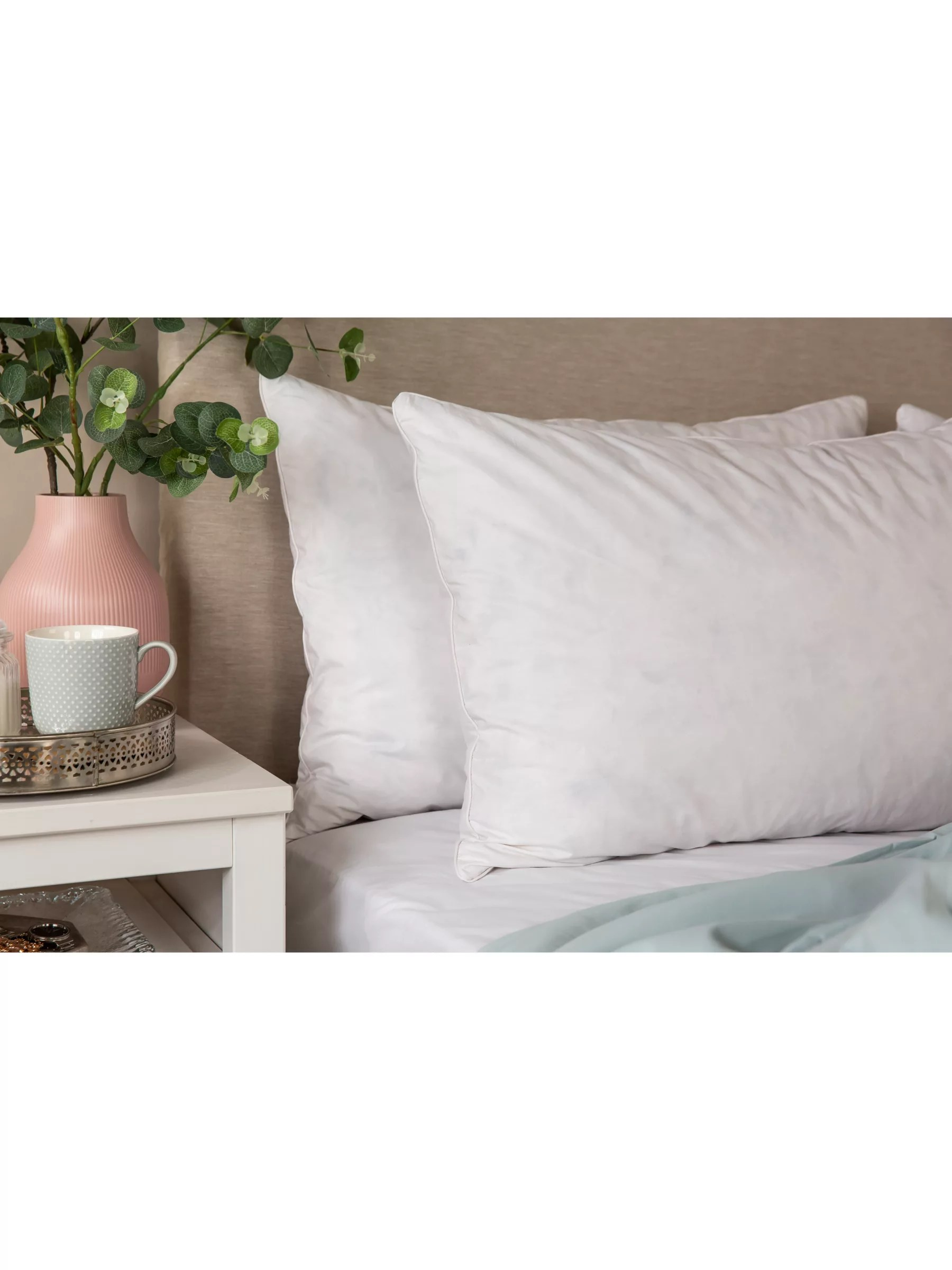 snuggledown natural duck feather and down standard pillow soft medium