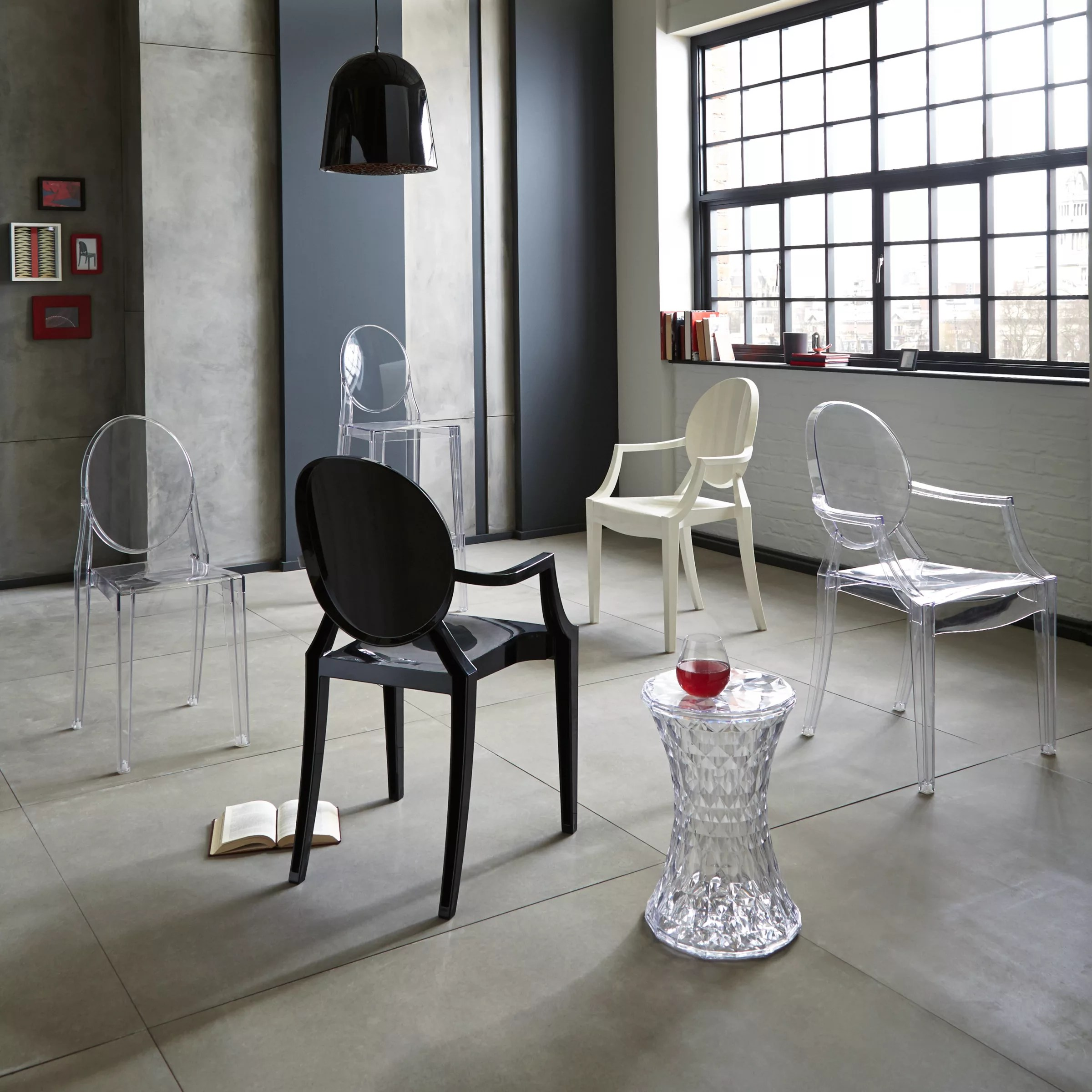 victoria ghost chair single weather philippe starck for kartell at john lewis buyphilippe crystal online johnlewis com