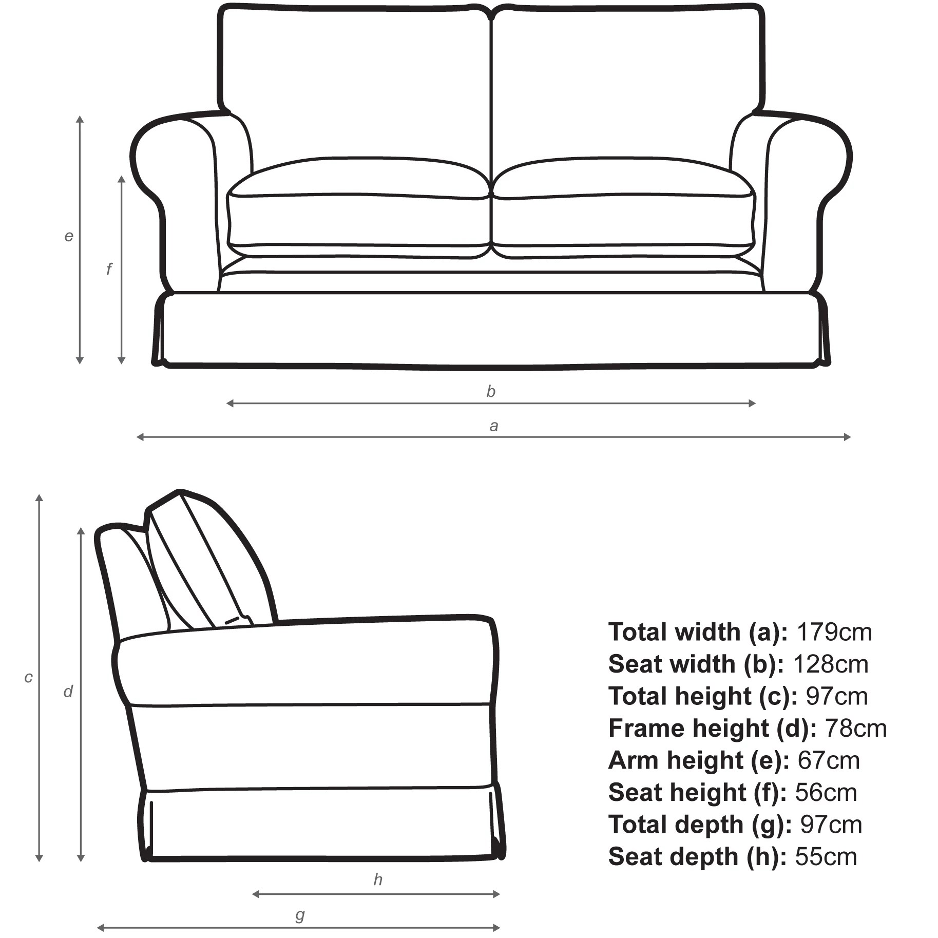 padstow 2 seater sofa laura ashley ebay small baci living room