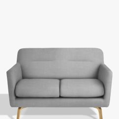 Small Wooden Sofa Robin Day Habitat Retro Grey Padded Lounge
