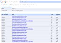 Google Testing Center
