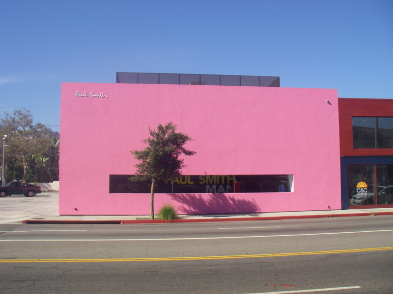 The big pink Paul Smith building on Melrose Avenue