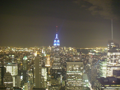 The view of the Empire State Building from Top of the Rocks
