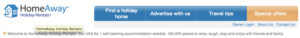 holiday-rentals.co.uk, which takes to the UK version of the homeaway site