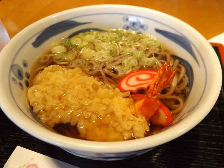 tempura prawn soba photo