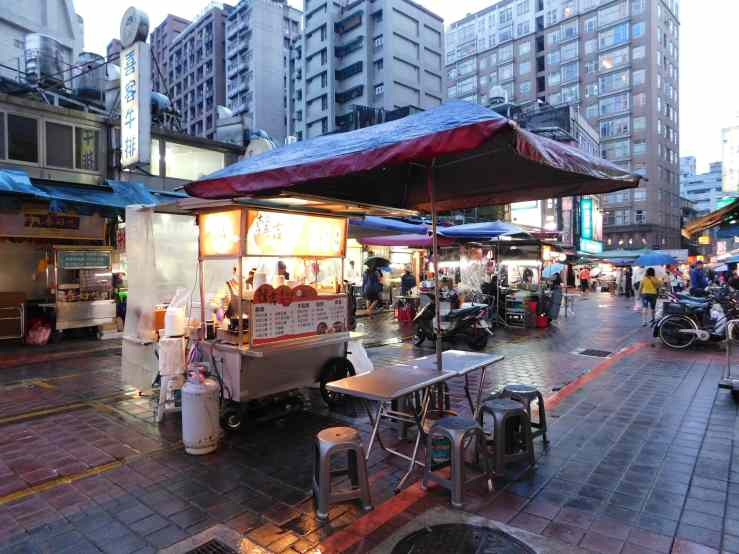 rainy food stalls photo