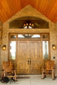 Wooden Double Door in Bremen, Indiana