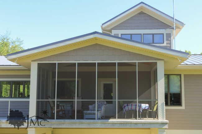 Backyard screened porch