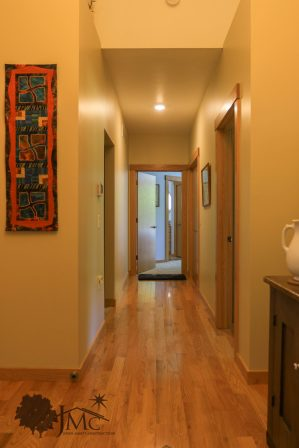 Bedroom and office hallway