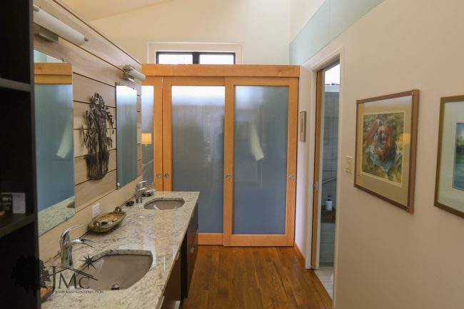 Master Bathroom with Two Sinks in Goshen, Indiana