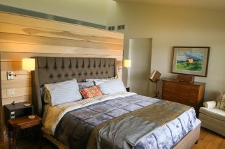 Master Bedroom with a Partial Wall in Goshen, Indiana