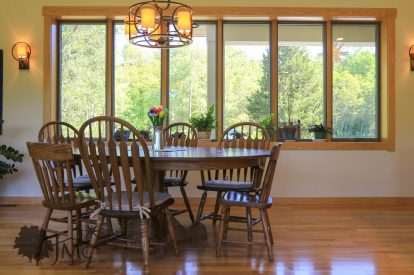 Open and spacious dining room
