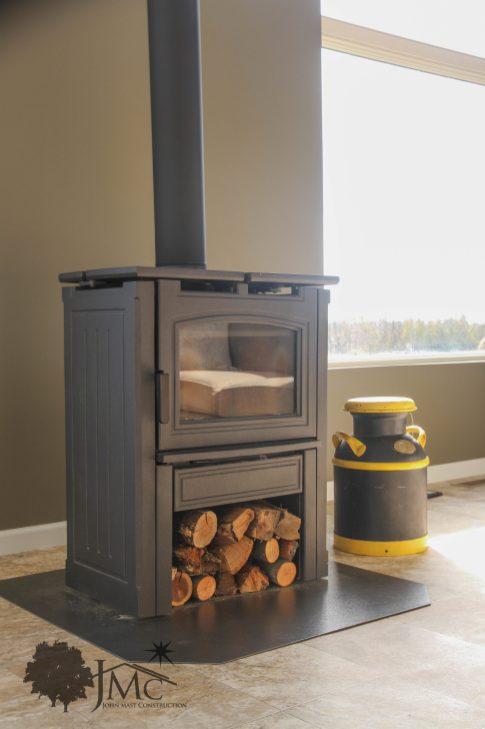 Self-standing Wood Fireplace in Mishawaka, Indiana