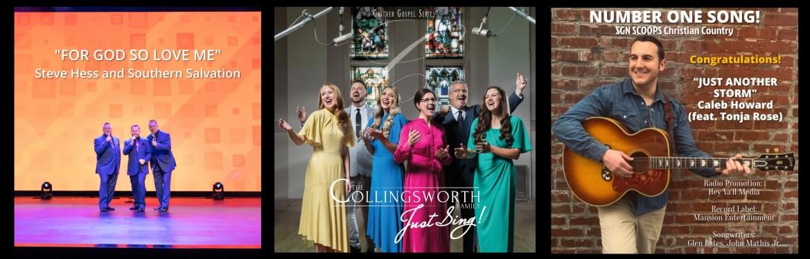 Christian Music Radio single, Southern Gospel radio single, Christian Country radio single, SGN Scoops Christian Country Top 40, Singing News Top 80, Singing News Power 50