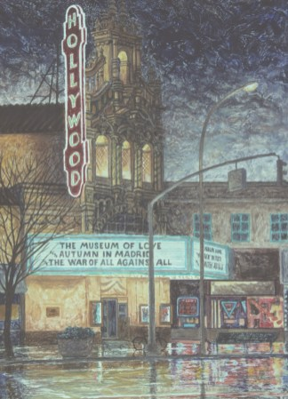 Hollywood Theatre 3 - Monoprint - 11 x 15 inches