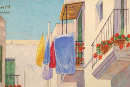Ibiza - Watercolor - 7 x 11 inches