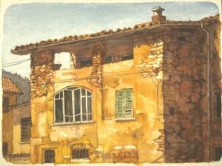Ponte Tresa 2 - Watercolor - 10 x 13 inches