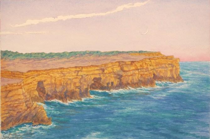 Acantilados - Watercolor - 7 x 11 inches