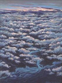 Coastal Clouds - Acrylic/masonite - 10 x 15 inches