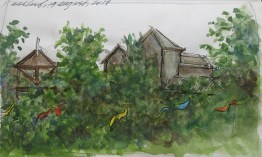 Ashland, Oregon - Watercolor - 3 x 6 inches