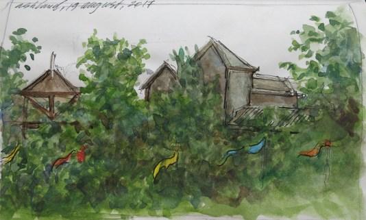 Ashland, Oregon - Watercolor - 3 x 6 inches