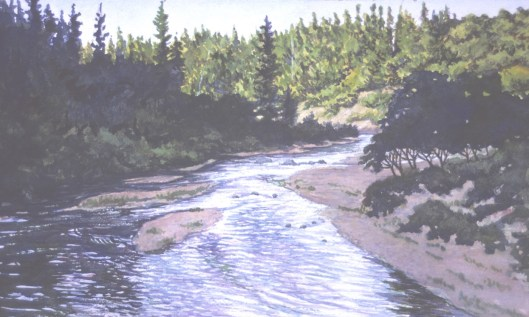 Bear River Canyon 1 - Watercolor - 10 x 15 inches
