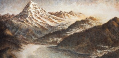Corinne's Mountain - Oil/canvas - 42 x 72 inches