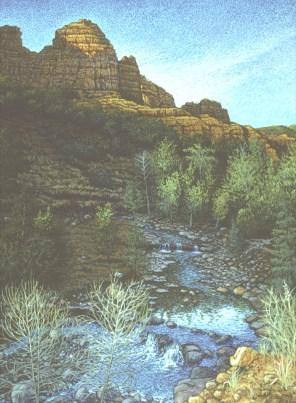 Dancing Light Creek - Acrylic/canvas - 31 x 40 inches