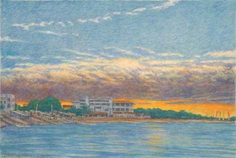 Es Pujols - Watercolor - 7 x 11 inches