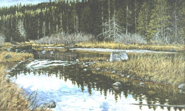 Fall River - Oil/canvas - 13 x 21 inches