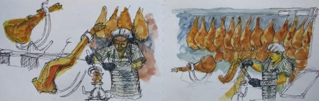 Jamoneras - Watercolor - 3 x 6 inches