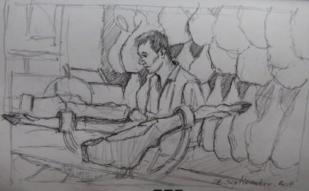 Jamonero José - Pencil/paper - 7 x 10 inches