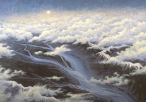 Valley - Acrylic/masonite - 22 x 32 inches
