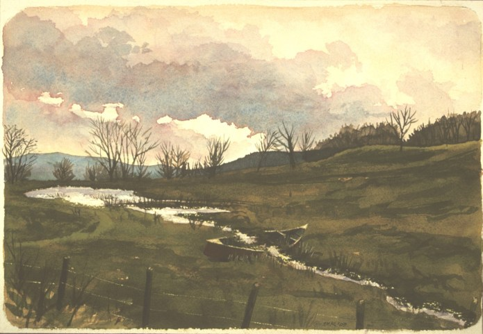Near Oneonta - Watercolor - 16 x 20 inches
