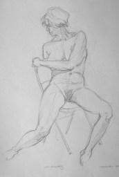 Amelia 1 - Pencil/paper - 15 x 22 inches