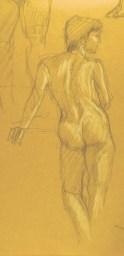 Figure Studies: Female - Charcoal/chalk - 6 x 10 inches