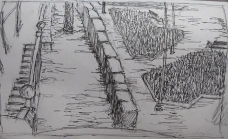Parque 1 - Pencil/paper - 7 x 10 inches