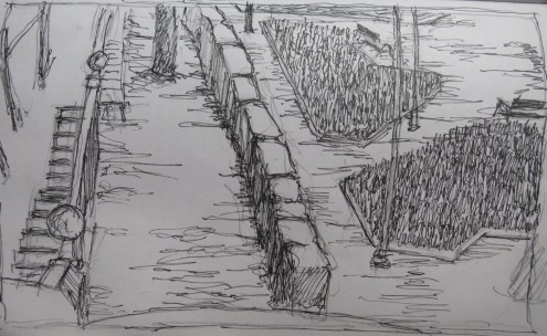 Parque 1 - Pencil/paper - 7 x 10 inches
