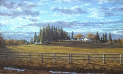 Loma Rica: Field - Watercolor - 13 x 21 inches