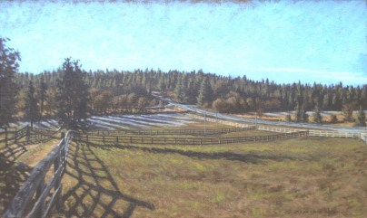 Loma Rica: Frost - Oil/canvas - 13 x 21 inches
