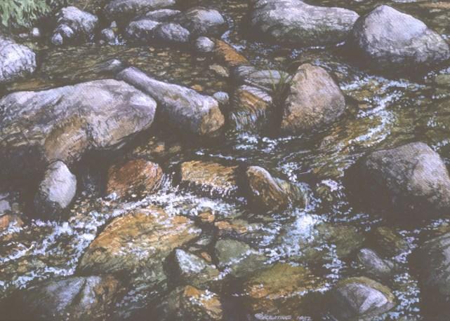 Stream - Watercolor - 10 x 14 inches